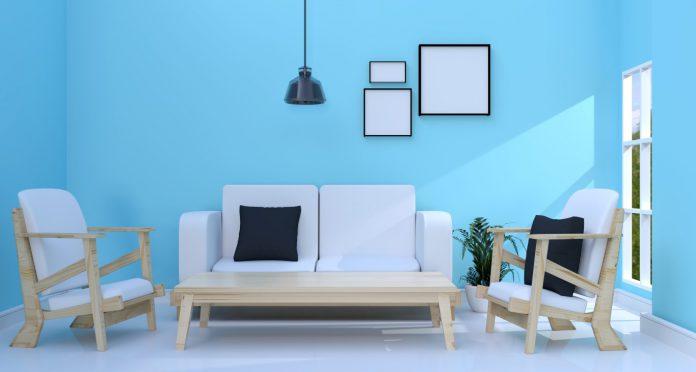 טפט לקיר בסלון